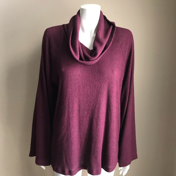 Anthropologie maeve Sweaters - Anthropologie Maeve maroon heathered cowl neck